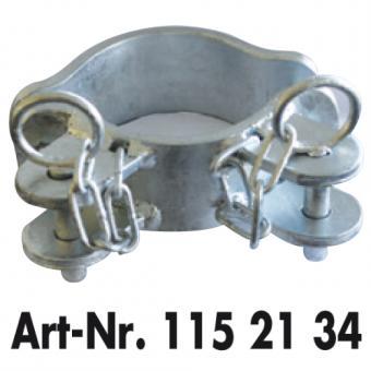 Schellenpaar 2 Richtungen im Winkel für Pfosten Ø 102 mm zur Montage von Weidetoren Fressgittern & Abtrenngittern