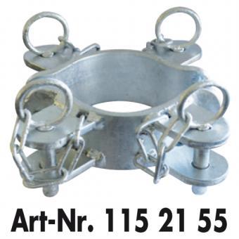 Schellenpaar 4 Richtungen für Pfosten Ø 102 mm zur Montage von Weidetoren Fressgittern & Abtrenngittern