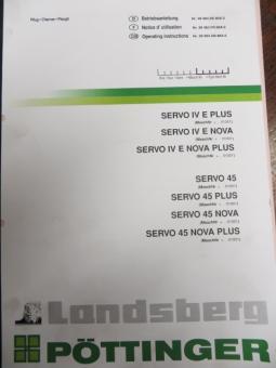 ET-Liste und Bedienungsanleitung für SERVO